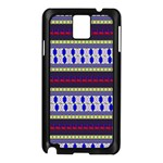 Colorful Retro Geometric Pattern Samsung Galaxy Note 3 N9005 Case (Black) Front