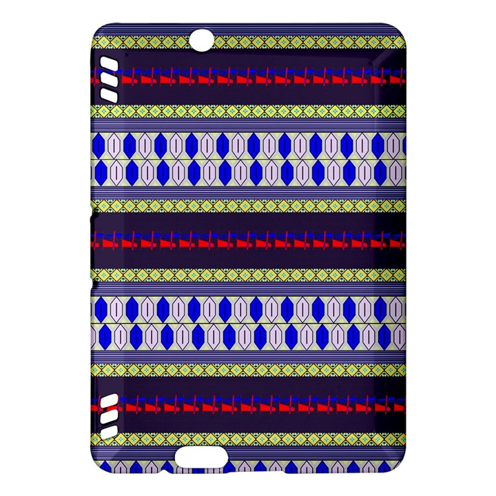 Colorful Retro Geometric Pattern Kindle Fire HDX Hardshell Case