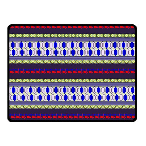 Colorful Retro Geometric Pattern Double Sided Fleece Blanket (Small)
