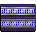 Colorful Retro Geometric Pattern Double Sided Fleece Blanket (Medium)  60 x50 Blanket Front