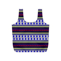 Colorful Retro Geometric Pattern Full Print Recycle Bags (S)