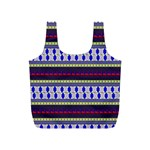 Colorful Retro Geometric Pattern Full Print Recycle Bags (S)  Front