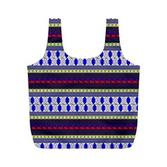 Colorful Retro Geometric Pattern Full Print Recycle Bags (m)