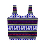 Colorful Retro Geometric Pattern Full Print Recycle Bags (M)  Back