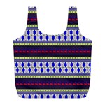 Colorful Retro Geometric Pattern Full Print Recycle Bags (L)  Front