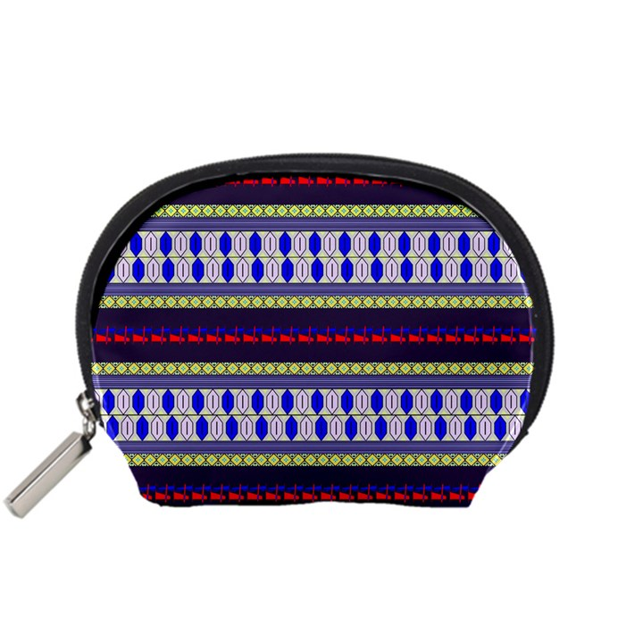 Colorful Retro Geometric Pattern Accessory Pouches (Small)