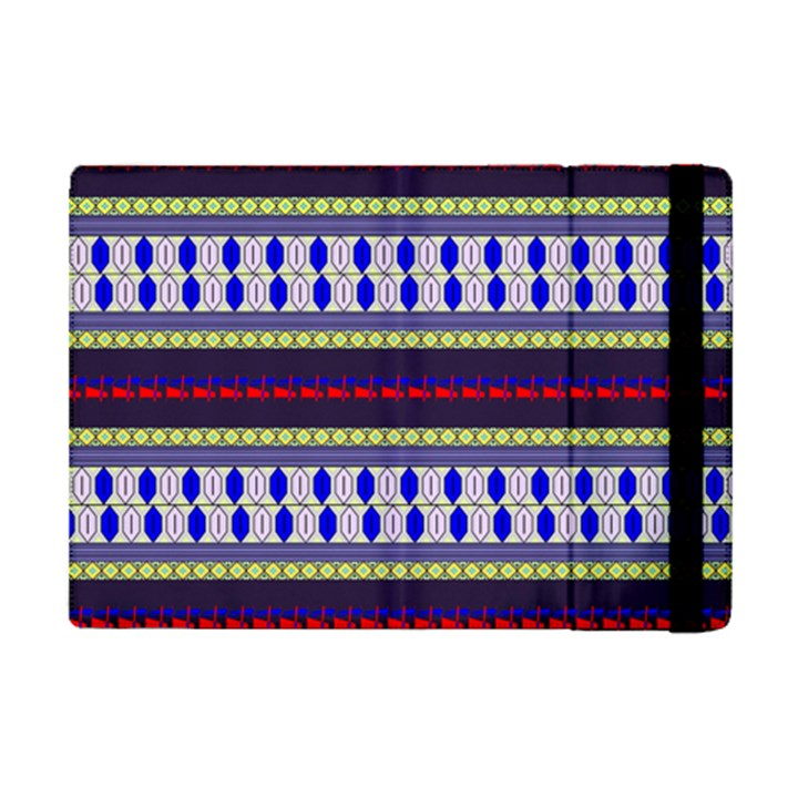 Colorful Retro Geometric Pattern iPad Mini 2 Flip Cases