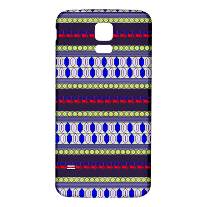 Colorful Retro Geometric Pattern Samsung Galaxy S5 Back Case (White)