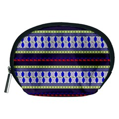 Colorful Retro Geometric Pattern Accessory Pouches (Medium)