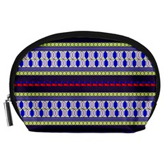 Colorful Retro Geometric Pattern Accessory Pouches (Large)