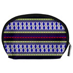 Colorful Retro Geometric Pattern Accessory Pouches (Large)  Back