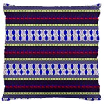 Colorful Retro Geometric Pattern Large Flano Cushion Case (One Side) Front