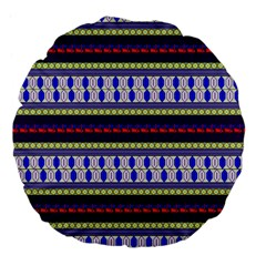 Colorful Retro Geometric Pattern Large 18  Premium Flano Round Cushions