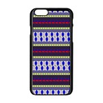 Colorful Retro Geometric Pattern Apple iPhone 6/6S Black Enamel Case Front