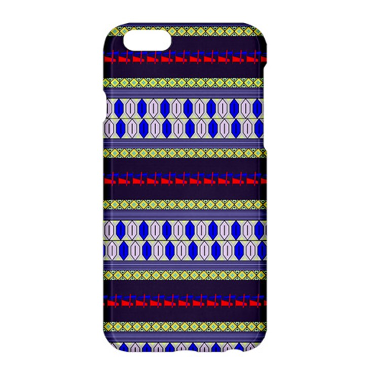 Colorful Retro Geometric Pattern Apple iPhone 6 Plus/6S Plus Hardshell Case
