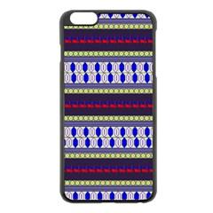 Colorful Retro Geometric Pattern Apple Iphone 6 Plus/6s Plus Black Enamel Case