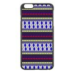 Colorful Retro Geometric Pattern Apple iPhone 6 Plus/6S Plus Black Enamel Case Front