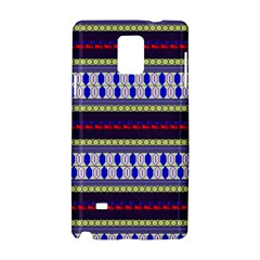 Colorful Retro Geometric Pattern Samsung Galaxy Note 4 Hardshell Case