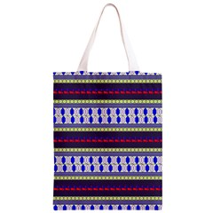 Colorful Retro Geometric Pattern Classic Light Tote Bag