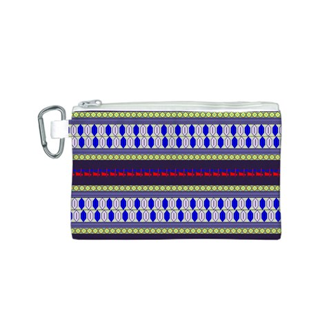 Colorful Retro Geometric Pattern Canvas Cosmetic Bag (S)