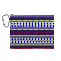 Colorful Retro Geometric Pattern Canvas Cosmetic Bag (L)