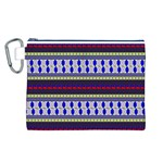 Colorful Retro Geometric Pattern Canvas Cosmetic Bag (L) Front