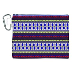 Colorful Retro Geometric Pattern Canvas Cosmetic Bag (XXL)
