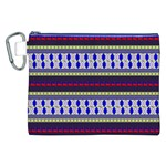 Colorful Retro Geometric Pattern Canvas Cosmetic Bag (XXL) Front