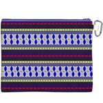 Colorful Retro Geometric Pattern Canvas Cosmetic Bag (XXXL) Back