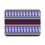Colorful Retro Geometric Pattern Double Sided Flano Blanket (Mini)  35 x27 Blanket Front