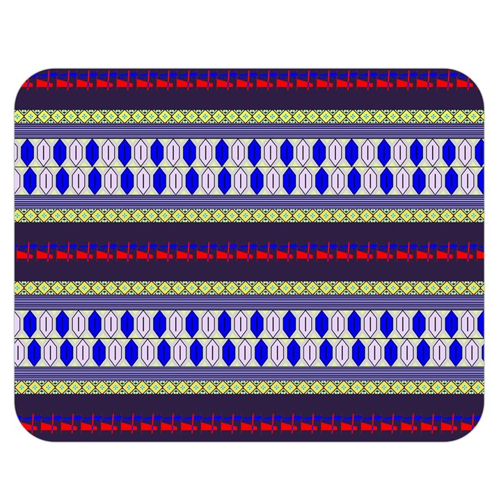 Colorful Retro Geometric Pattern Double Sided Flano Blanket (Medium)