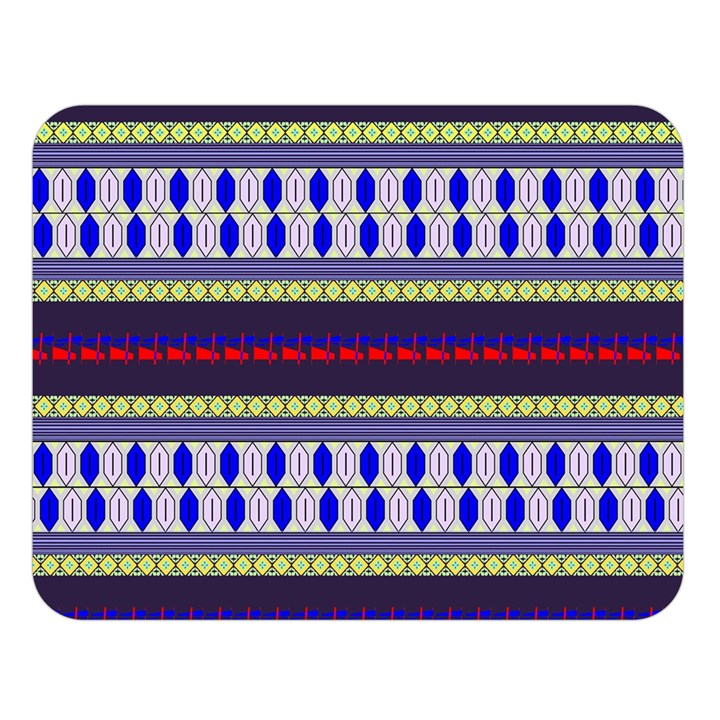 Colorful Retro Geometric Pattern Double Sided Flano Blanket (Large)