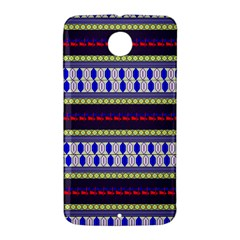 Colorful Retro Geometric Pattern Nexus 6 Case (White)
