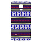 Colorful Retro Geometric Pattern Galaxy Note 4 Back Case Front