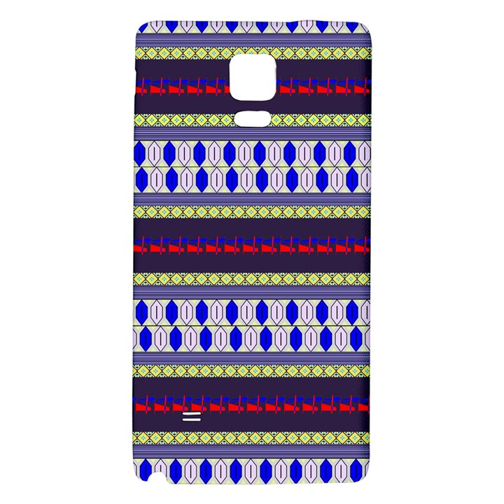 Colorful Retro Geometric Pattern Galaxy Note 4 Back Case