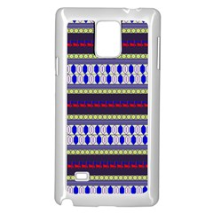 Colorful Retro Geometric Pattern Samsung Galaxy Note 4 Case (White)