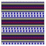Colorful Retro Geometric Pattern Large Satin Scarf (Square) Front