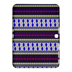 Colorful Retro Geometric Pattern Samsung Galaxy Tab 4 (10.1 ) Hardshell Case