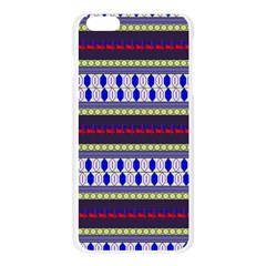 Colorful Retro Geometric Pattern Apple Seamless iPhone 6 Plus/6S Plus Case (Transparent)