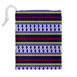 Colorful Retro Geometric Pattern Drawstring Pouches (Extra Large) Back