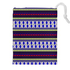 Colorful Retro Geometric Pattern Drawstring Pouches (XXL)