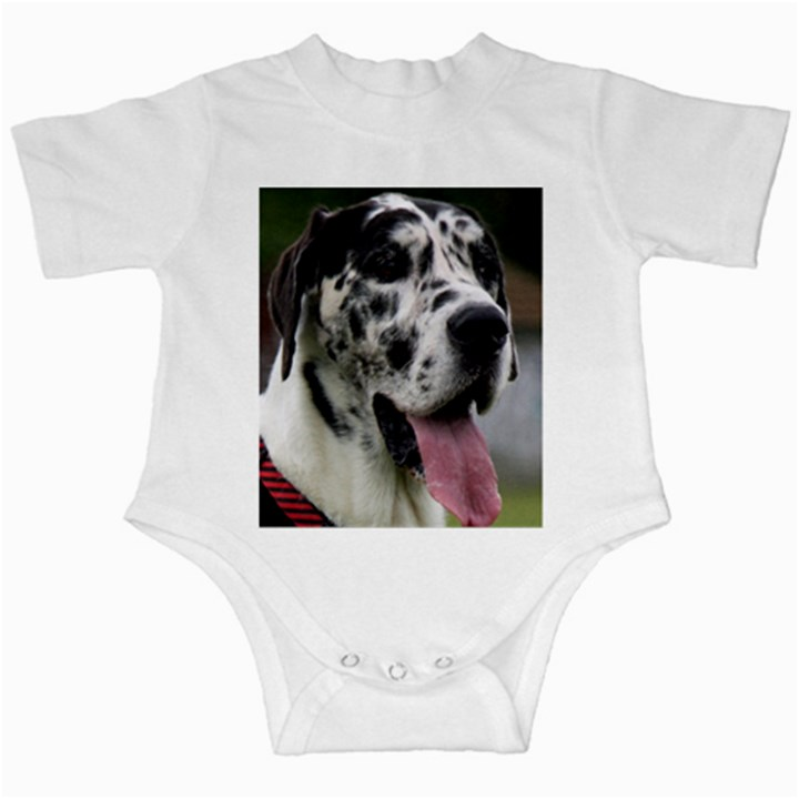 Great Dane harlequin  Infant Creepers