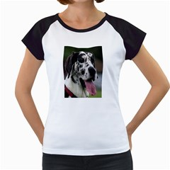 Great Dane harlequin  Women s Cap Sleeve T