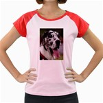 Great Dane harlequin  Women s Cap Sleeve T-Shirt Front