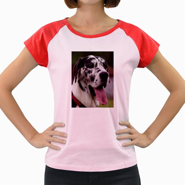 Great Dane harlequin  Women s Cap Sleeve T-Shirt