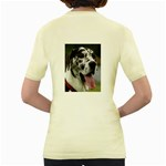 Great Dane harlequin  Women s Yellow T-Shirt Back