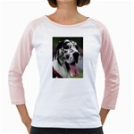 Great Dane harlequin  Girly Raglans Front