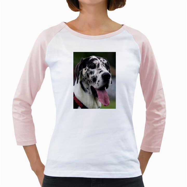 Great Dane harlequin  Girly Raglans
