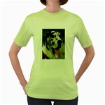 Great Dane harlequin  Women s Green T-Shirt Front