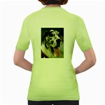 Great Dane harlequin  Women s Green T-Shirt Back